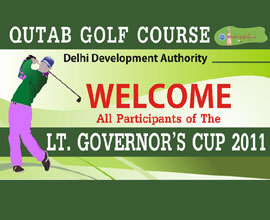 Qutab Golf Course branding by ShailCreations in India