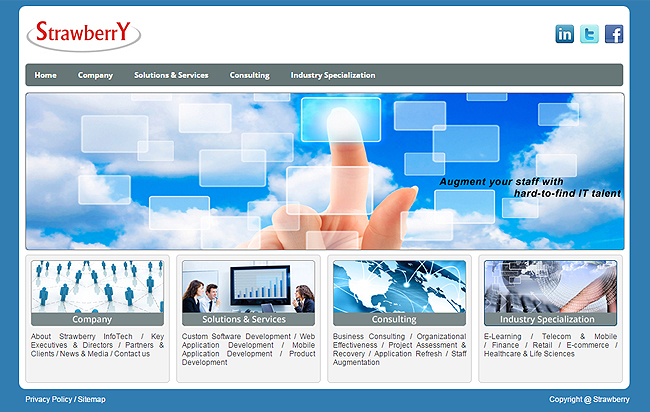 strawberryinfotech is in software and provide online solutions