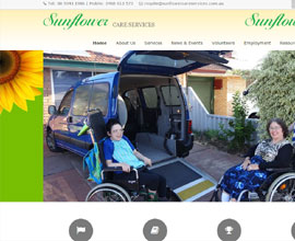 Sunflowercareservices website is responsive in wordpress Asutralia