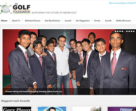 TheGolfFoundation website is responsive in wordpress Delhi